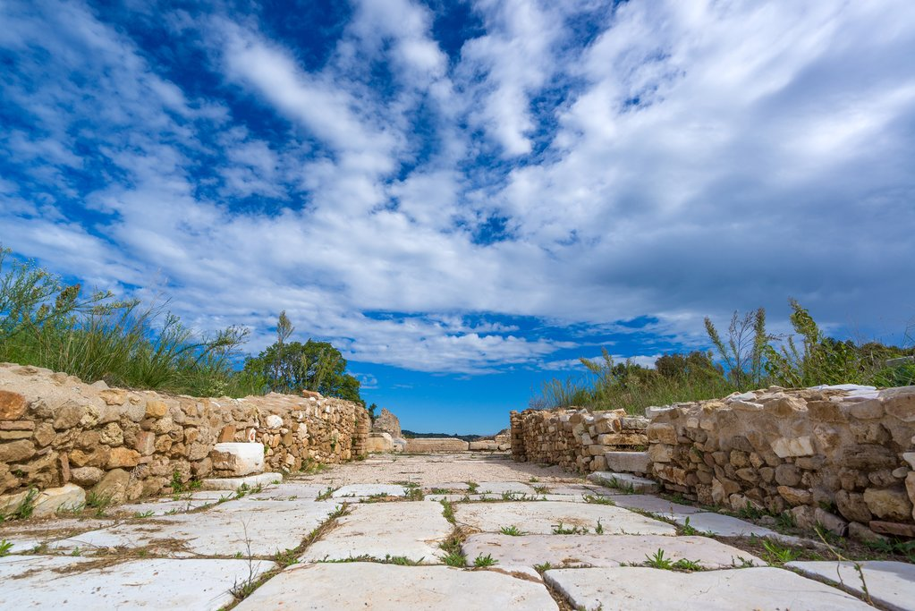 The ancient Roman city of Nikopolis in Preveza, Greece