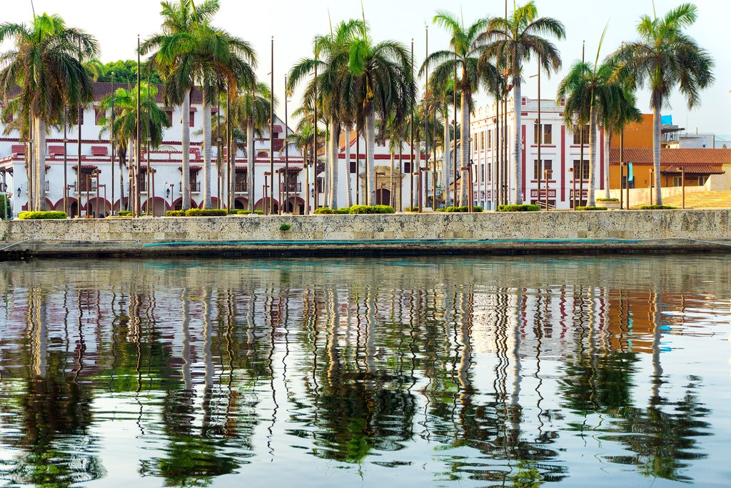 Take one last stroll along Cartagena's waterfront before your flight.