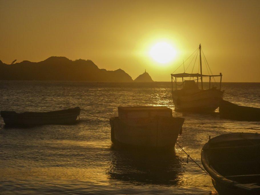 A beautiful sunrise in Santa Marta.