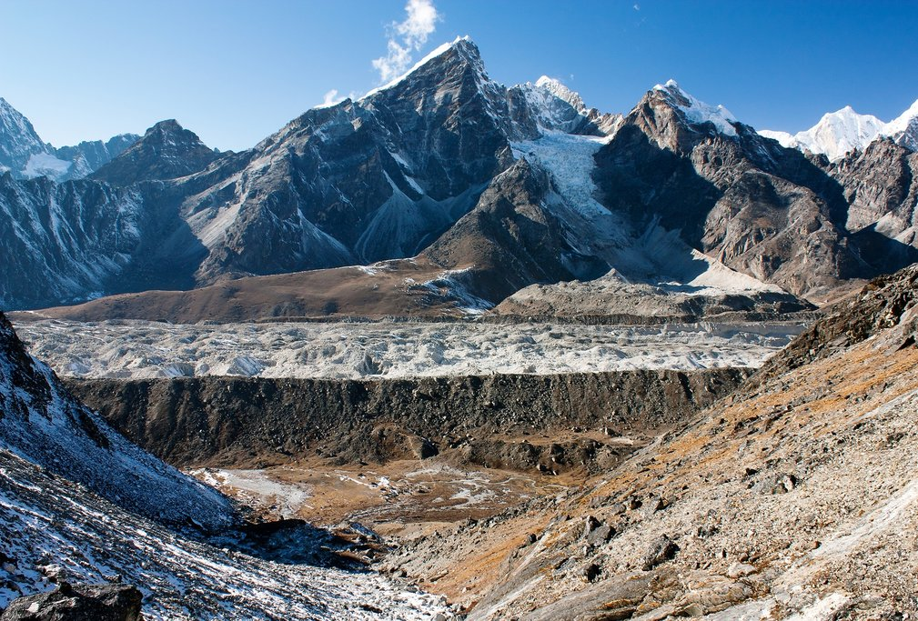 View of the Khumbu Glacier from Kongma la pass