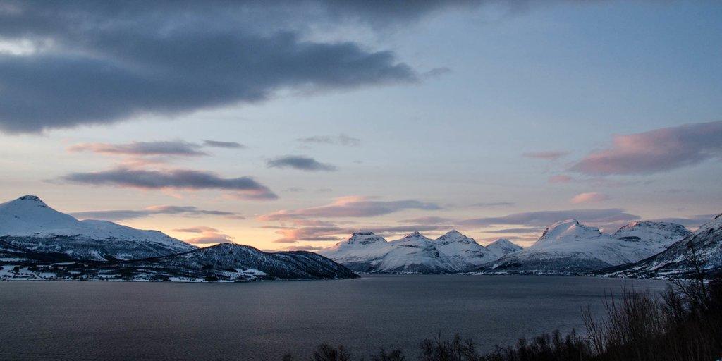 A dramatic Arctic sunset
