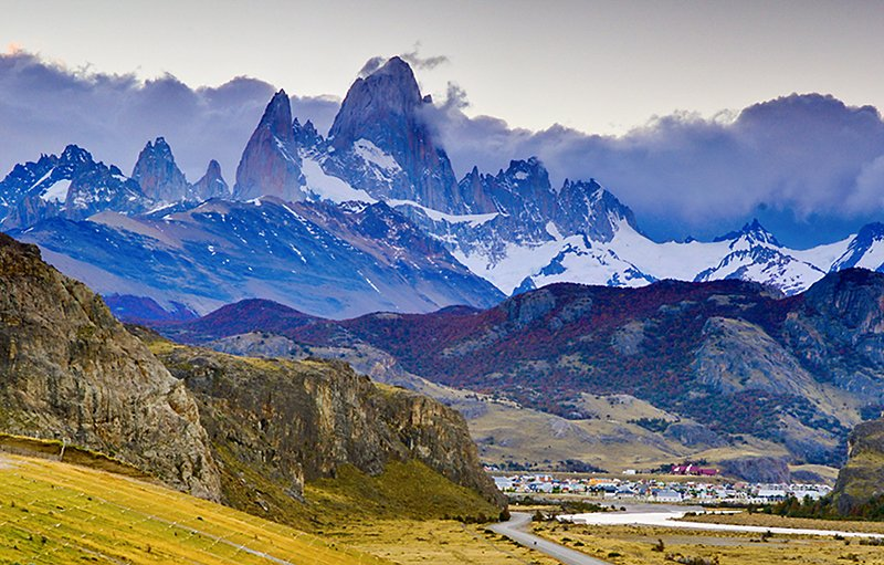 View of Torres del Paine from El Chalten.