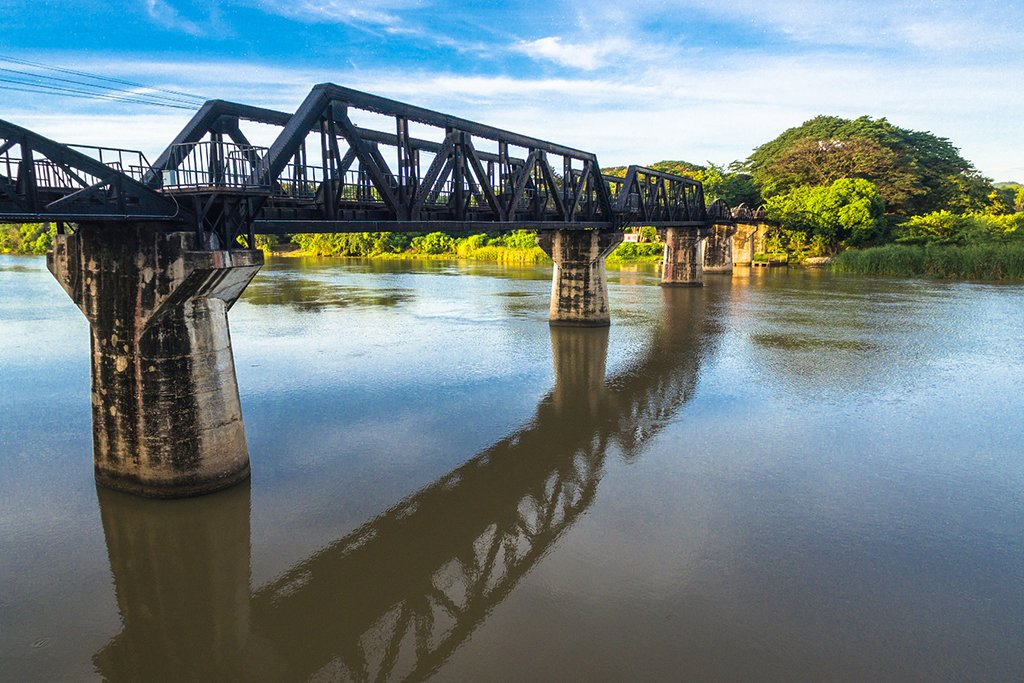 Death Railway Bridge over the River Kwai, Kanchanaburi