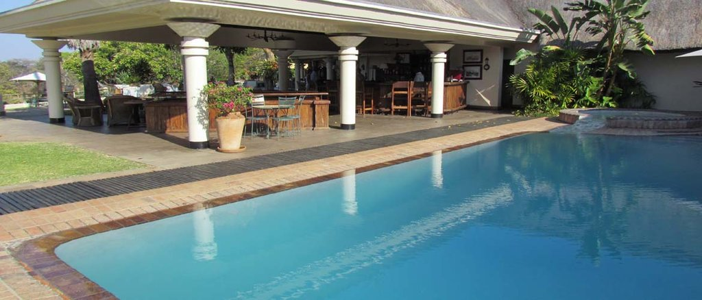 Hotel pool at Victoria Falls, Zimbabwe