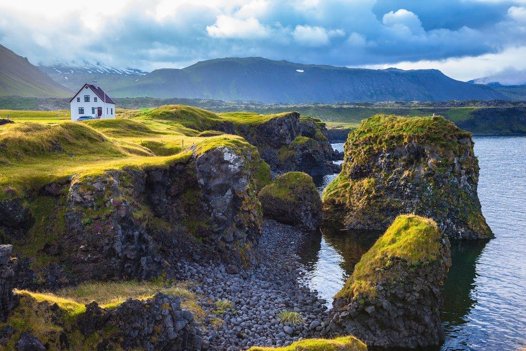 The village of Arnastapi on the Snaefellsnes Peninsula