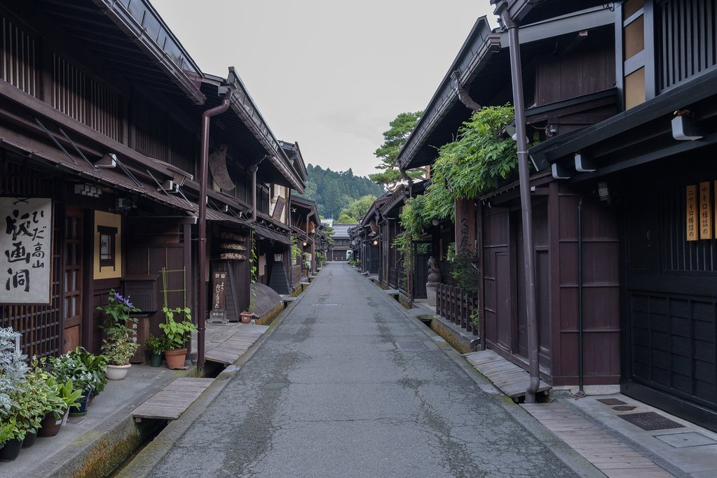 Takayama's historical district