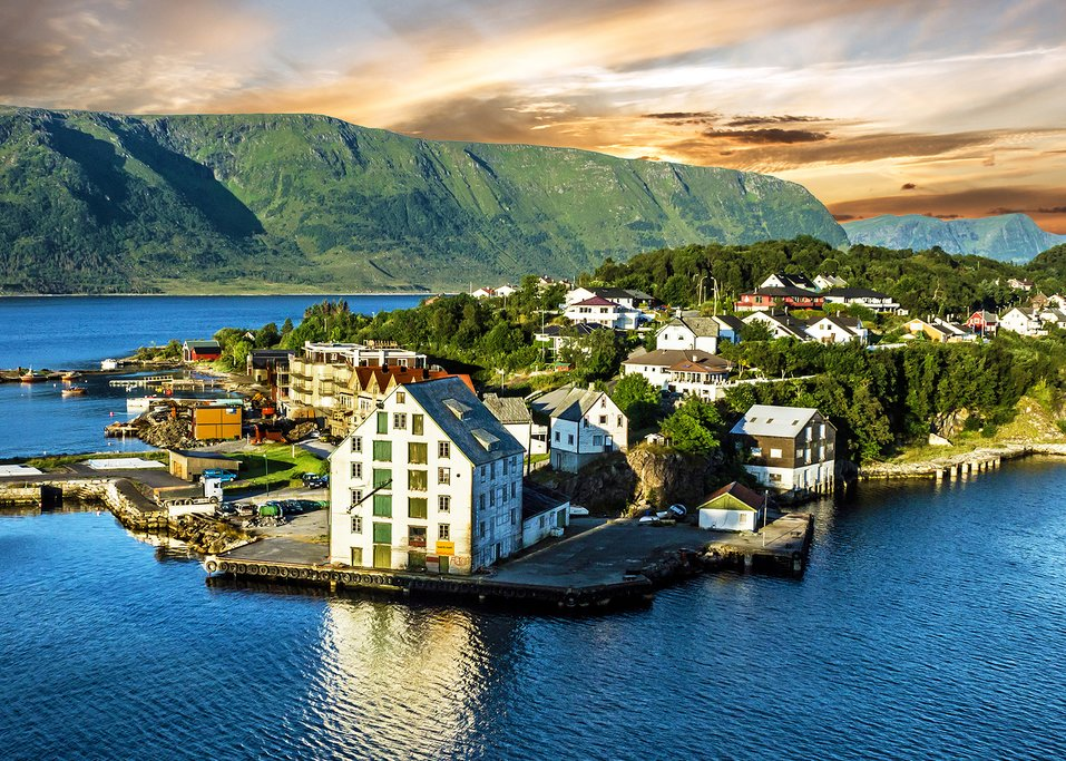 Your last stop of the trip -- the picturesque city of Ålesund.