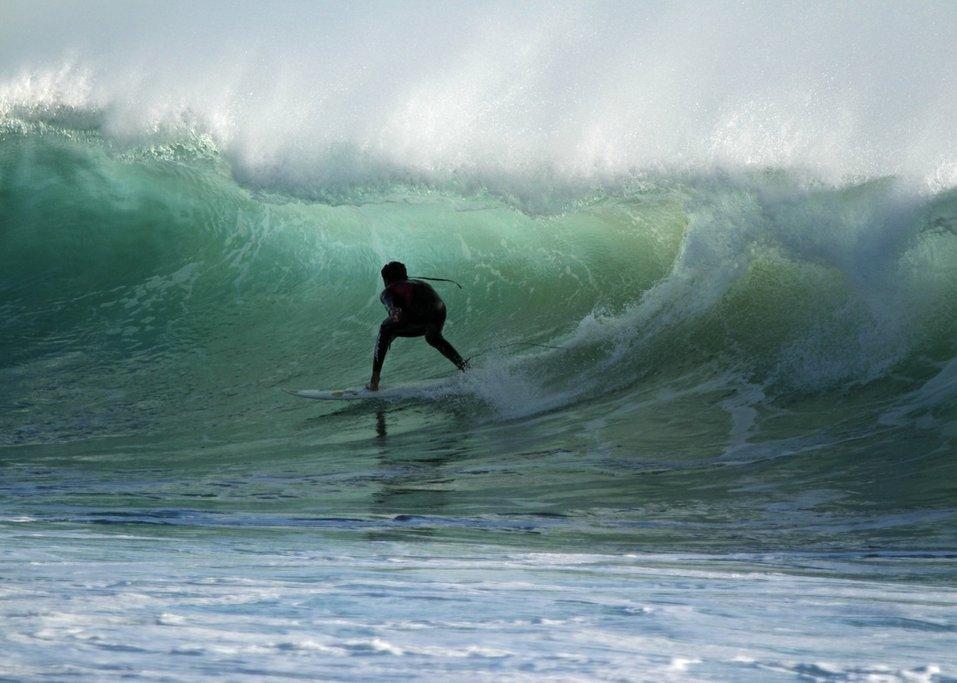 Surfing Jeffreys Bay