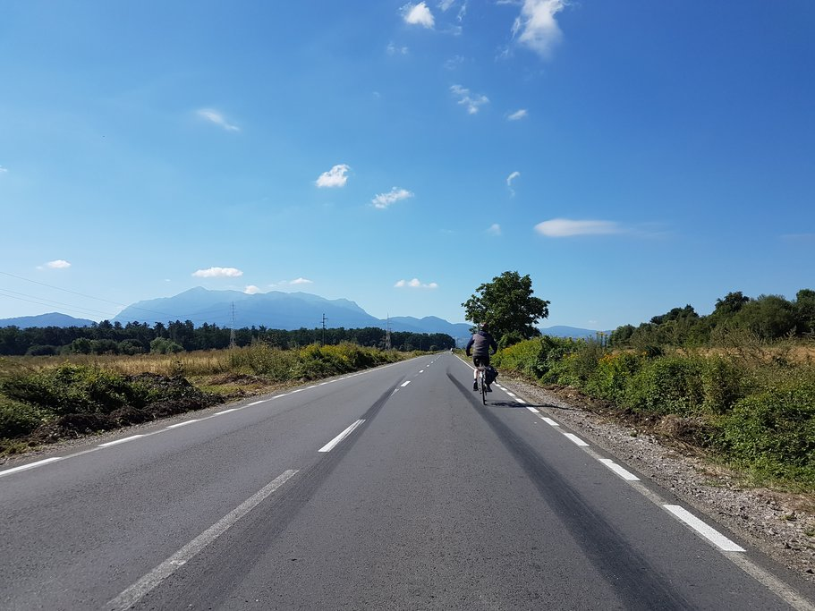 Cycling in the Romanian countryside