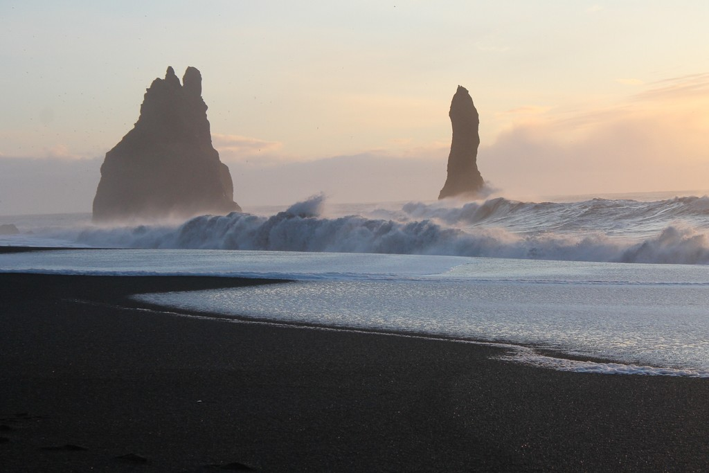 Iceland's black sand beaches in winter (photo courtesy of Jen Draper)