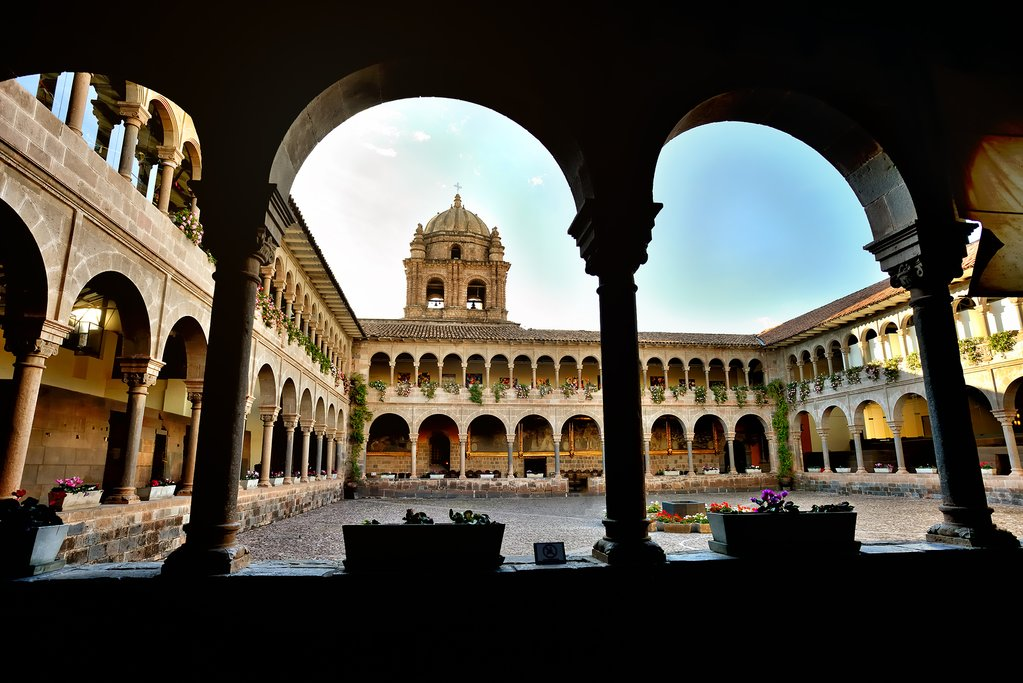 The cloisters of Iglesia de Santom Domingo, at the Qorikancha ruins