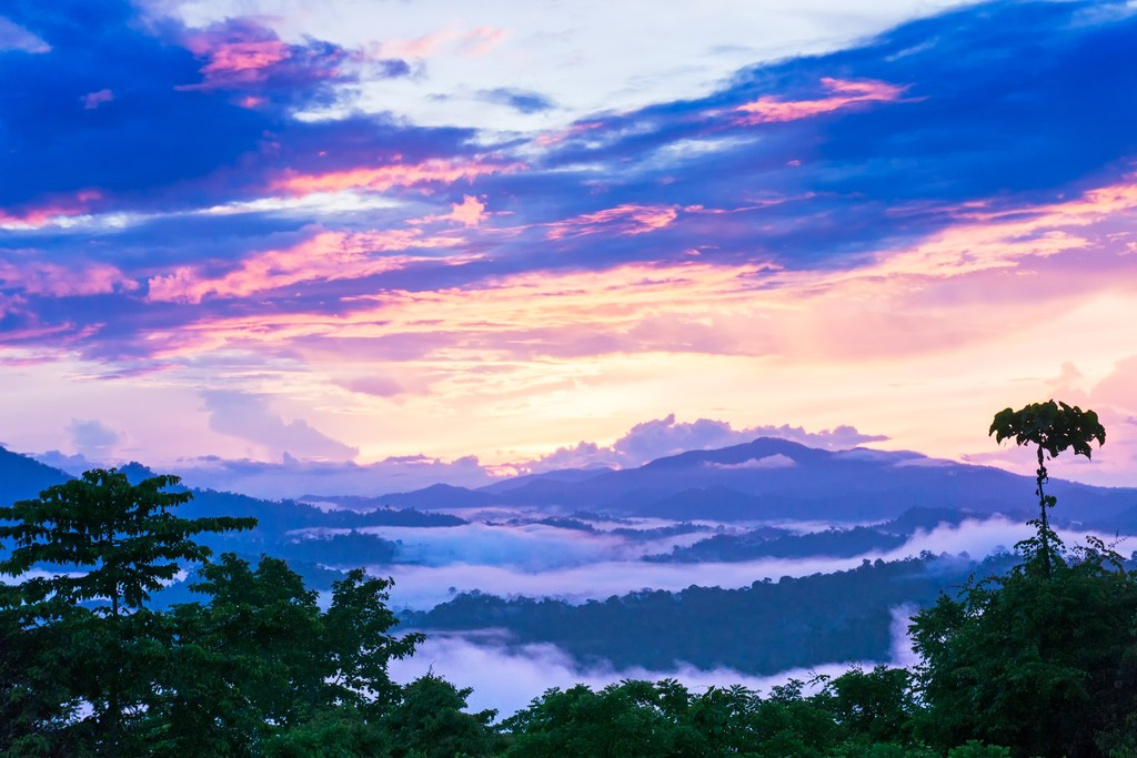 Sunrise over the Danum Valley