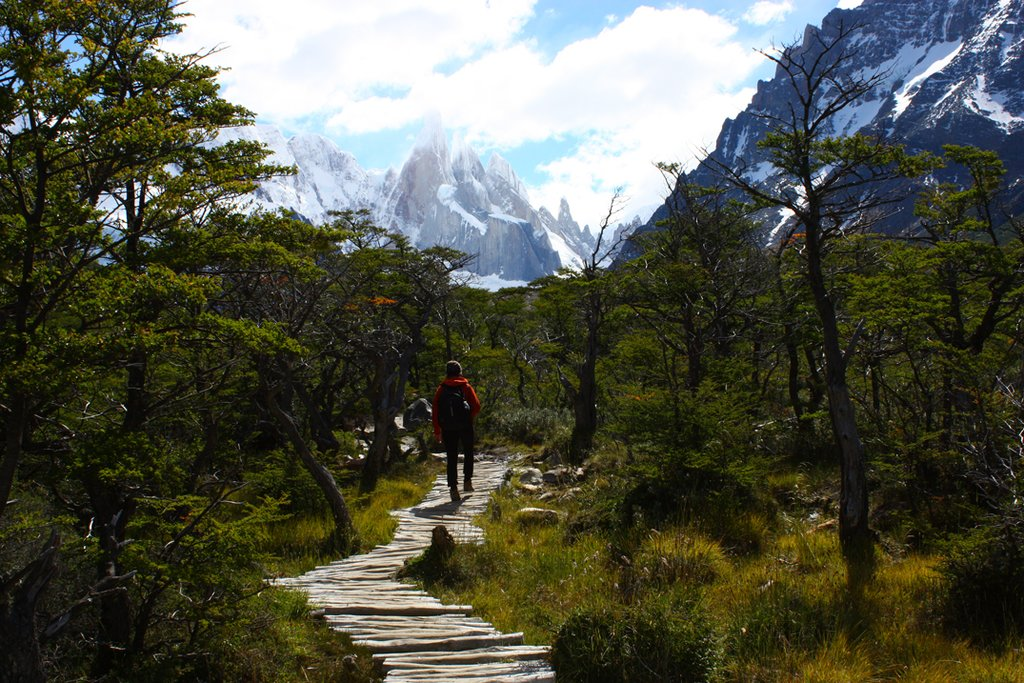 Hiking in El Chalten.