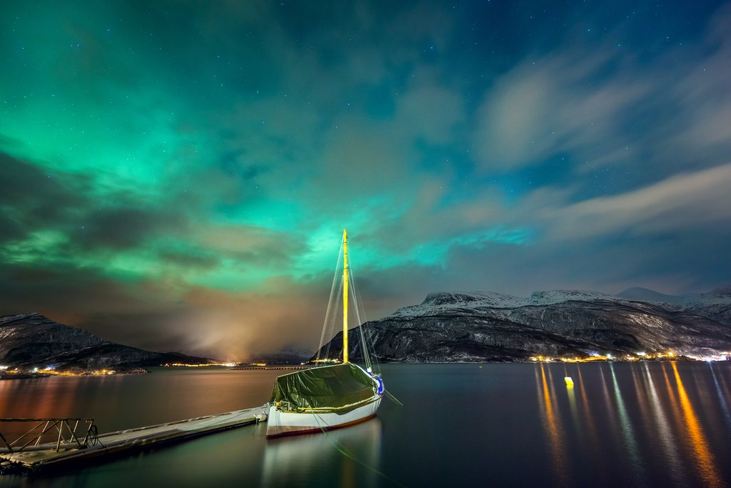 Get a glimpse of the Northern Lights on a guided tour.