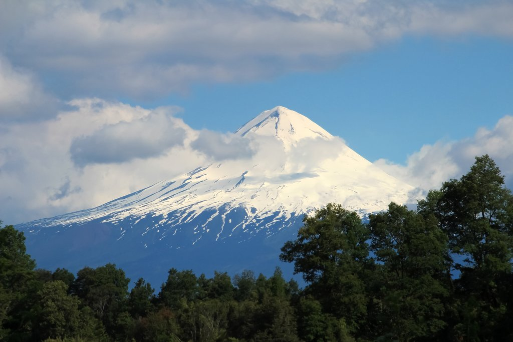 Panoramic view of the Llaima Volcano