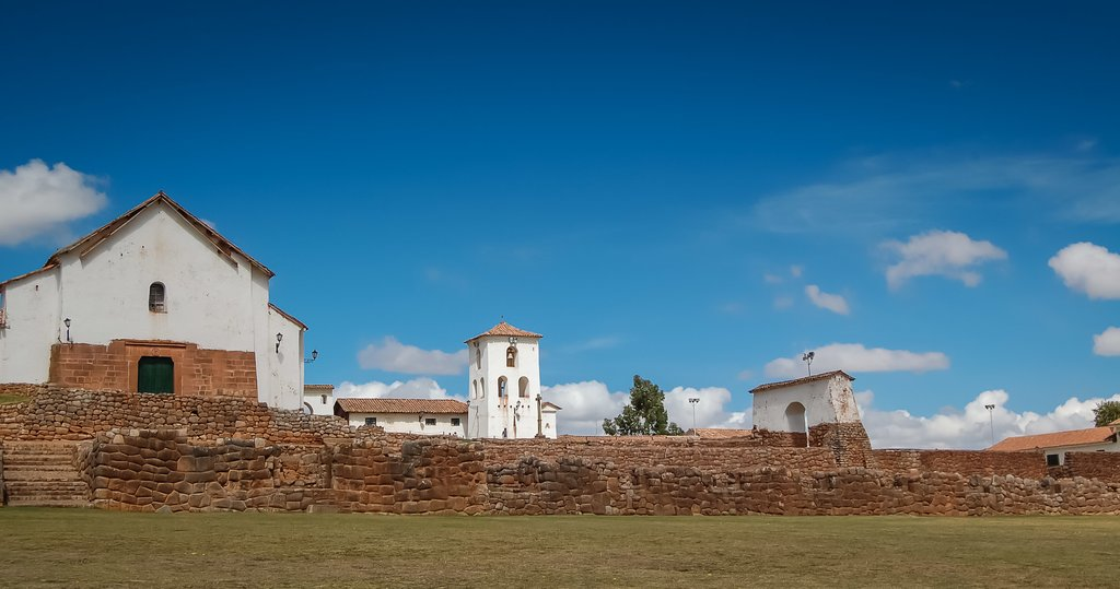 The colonial-era buildings of Chincero include weaving studios and a beautiful church.
