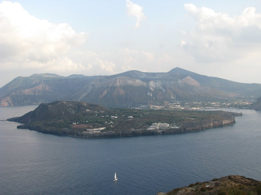 View from Lipari towards Vulcano