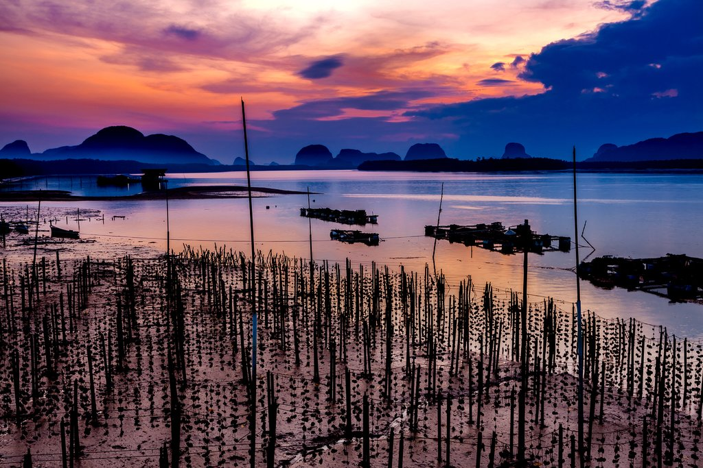 Gorgeous view from the small fishing village of Ban Samchong.