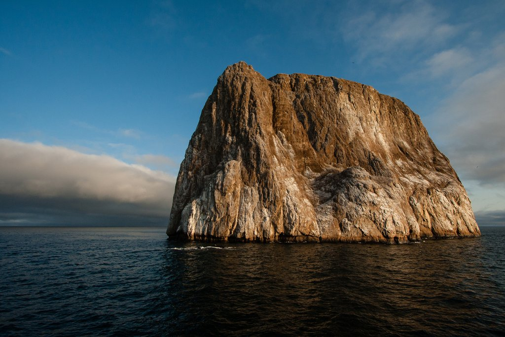 Kicker Rock, as tall as a 50 story building, offers excellent snorkeling and diving opportunities.