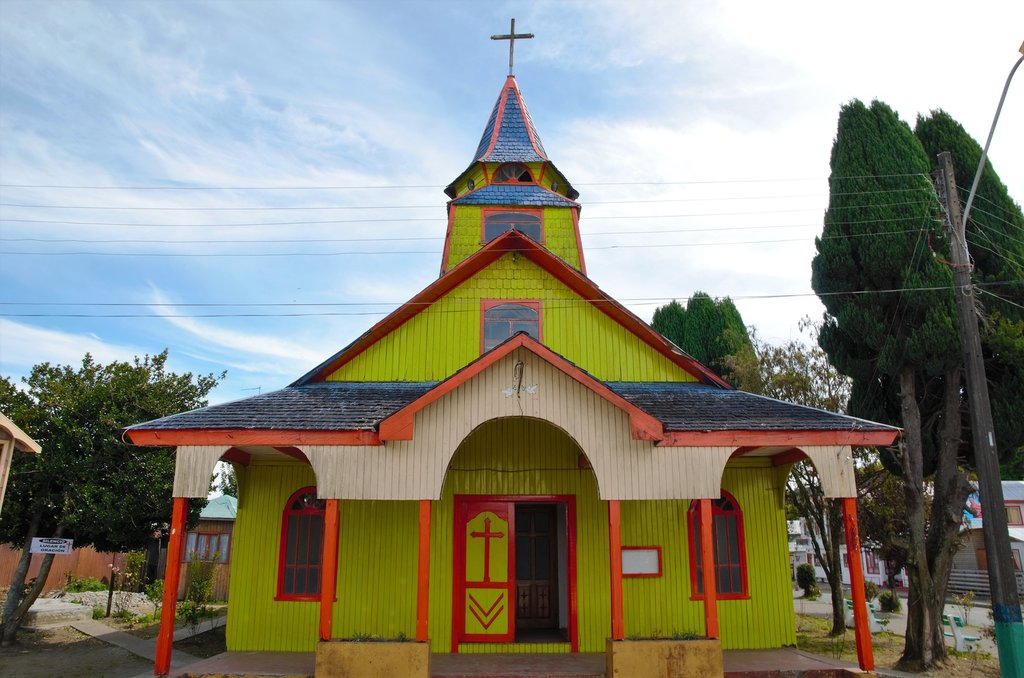 Wooden church in Quemchi.