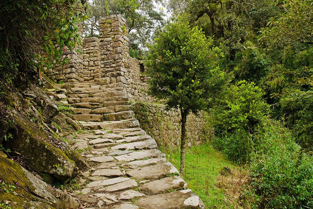 Inca Trail At Intipunku