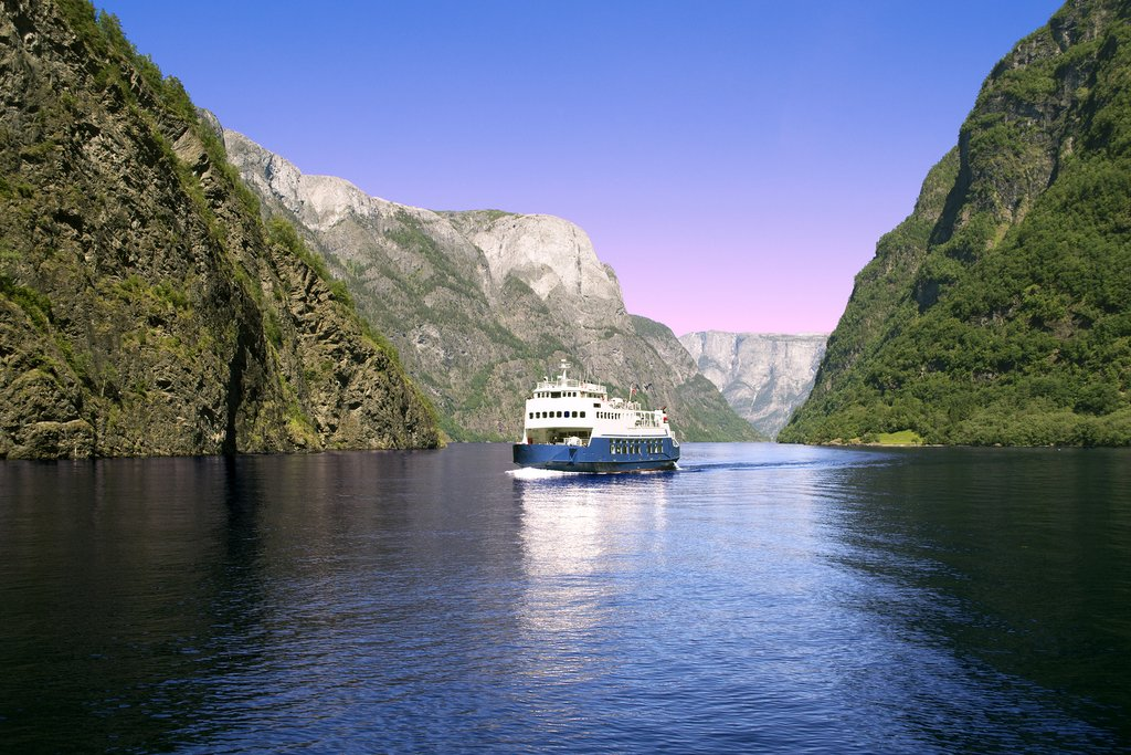 A ferry ride on Sognefjord, Norway's longest and deepest fjord