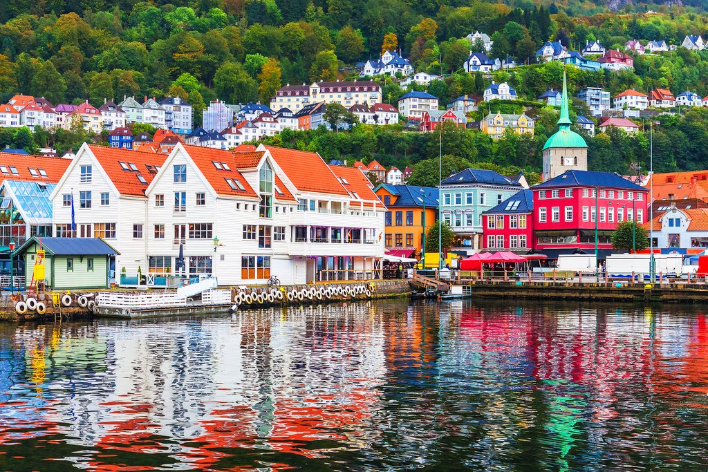 Bergen's historic and colorful waterfront