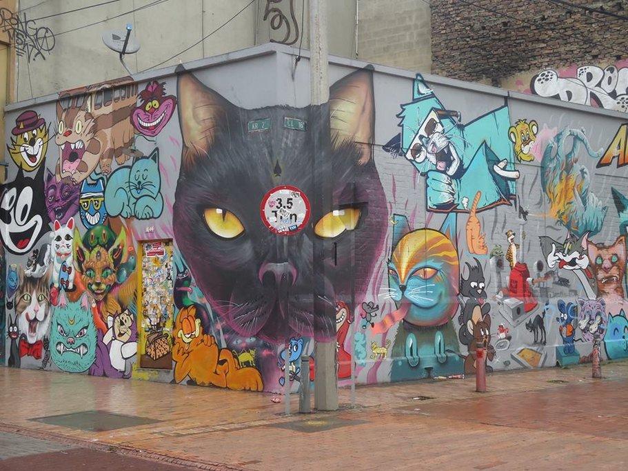 Cat graffiti