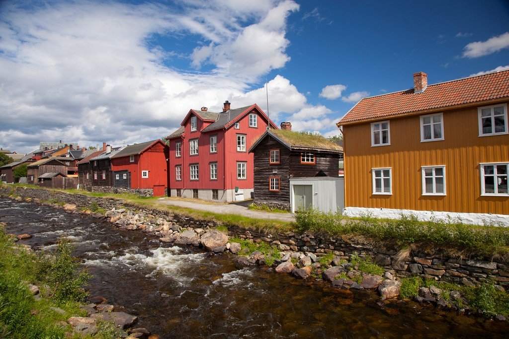 Charming wooden houses in Røros