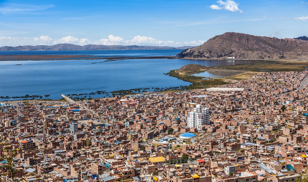 Puno City and Lake Titicaca