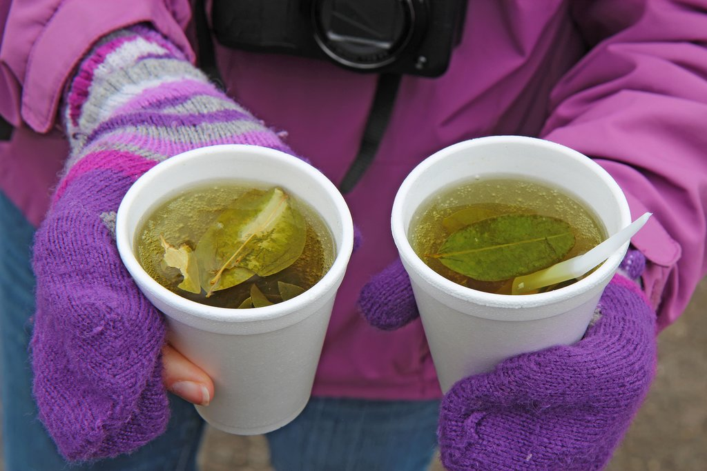 Coca tea helps combat the effects of altitude sickness