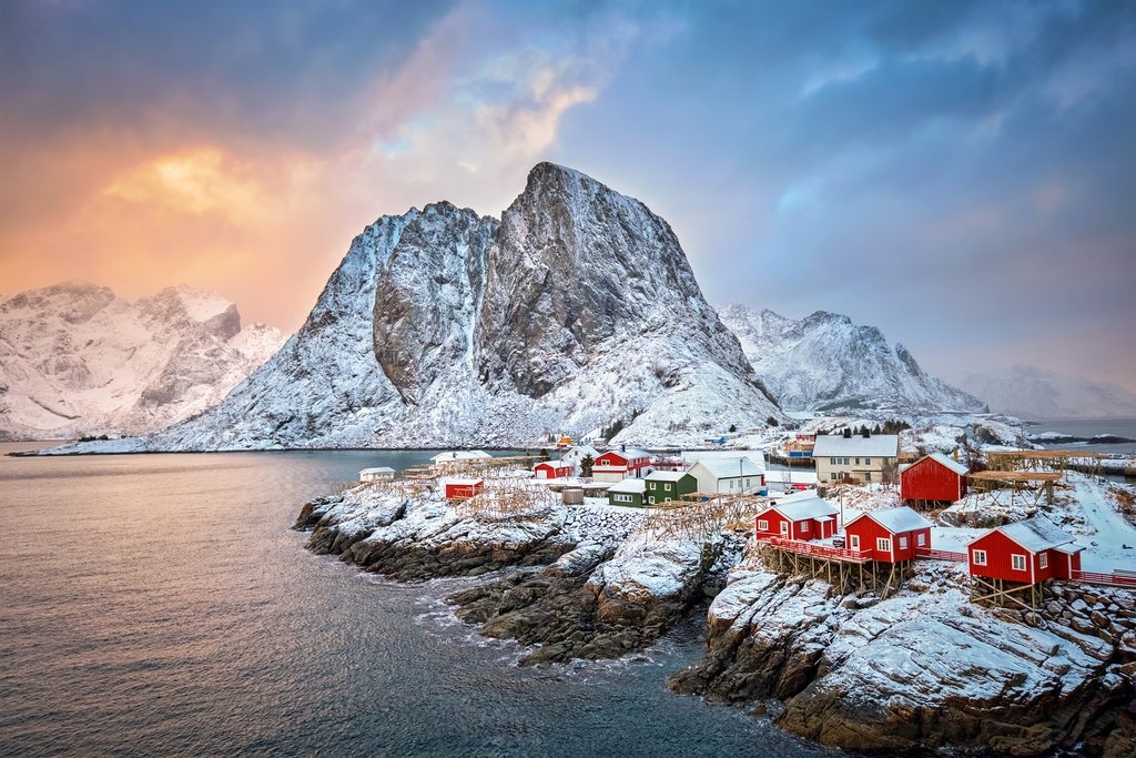 Rent a car and explore Lofoten's beautiful fishing villages.