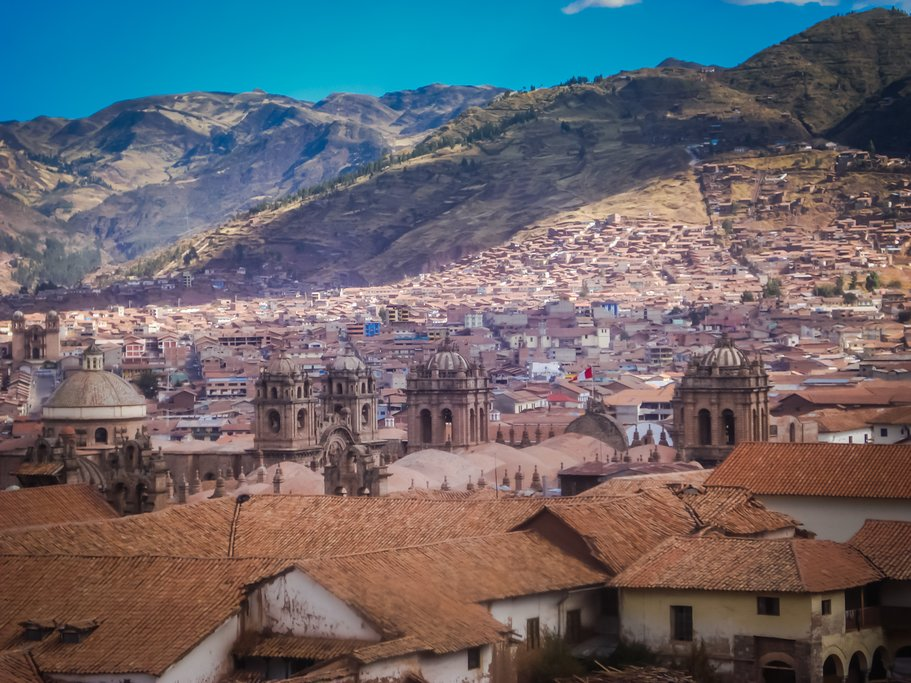 The gorgeous historical center of the former capital of the Incas