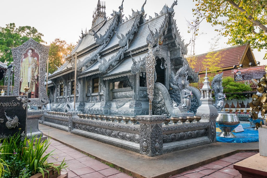 Wat Srisuphan, or Silver Pagoda, in Chiang Mai