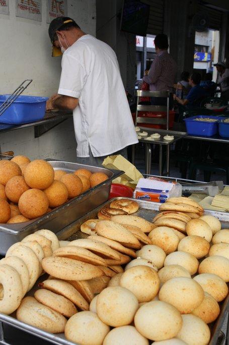 hot pandebonos typical street food