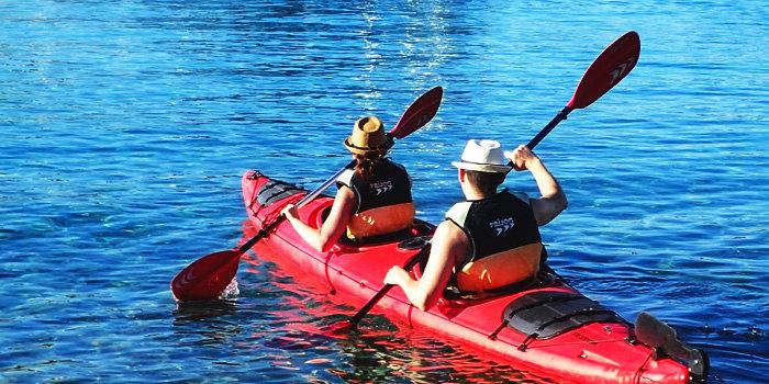 Sea kayaking around the Pakleni Islands