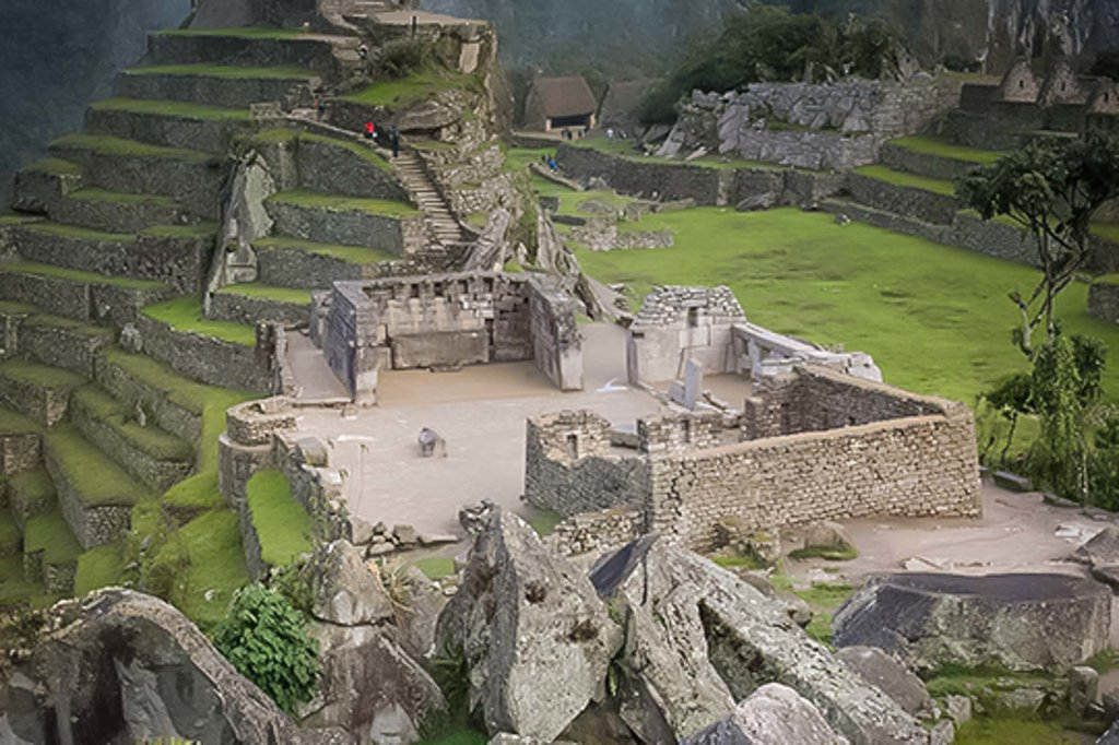 The fascinating terraces and ruins of Machu Picchu.