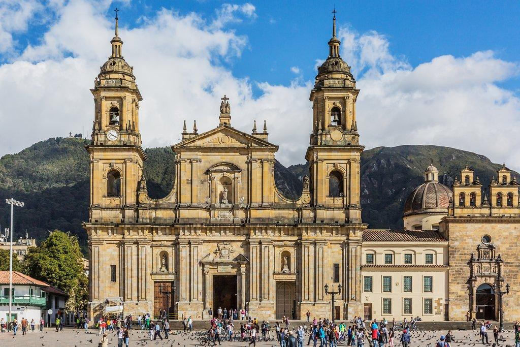 Spanish colonial architecture in La Candelaria.