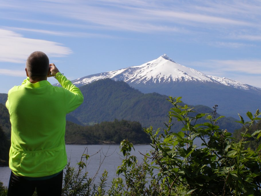 Beautiful views of Villarrica Volcano