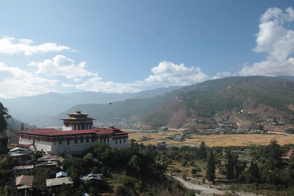 Thetown of Paro, Bhutan