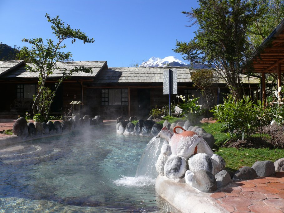 The volcanic hot springs
