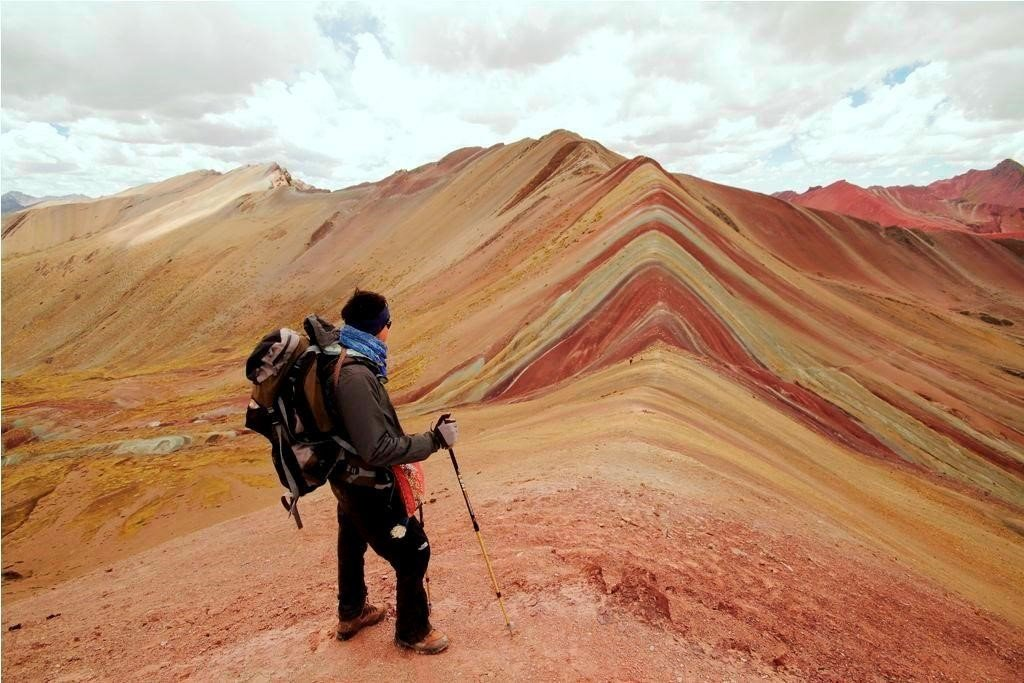Also known as Rainbow Mountain, Vinicunca Mountain is a dazzling display of colorful soils
