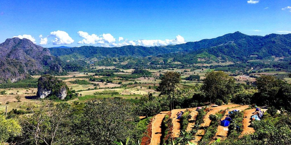 Valley below Phu Langka Mountain.