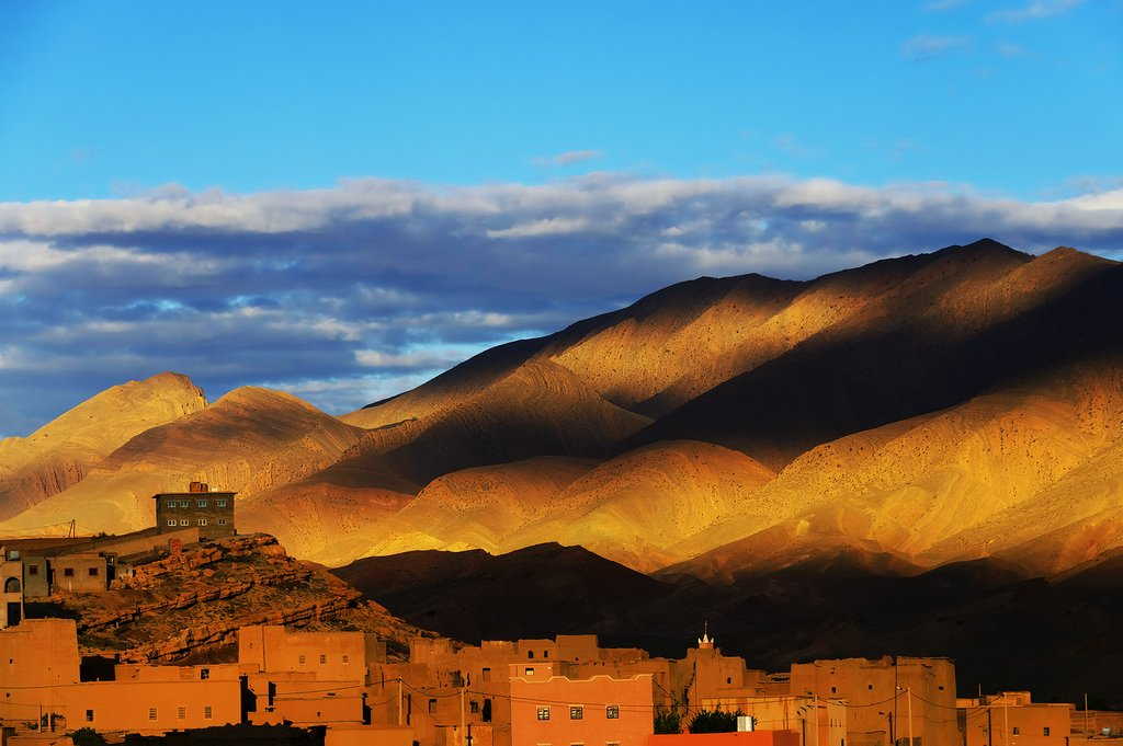 Sunset over the Atlas Mountains
