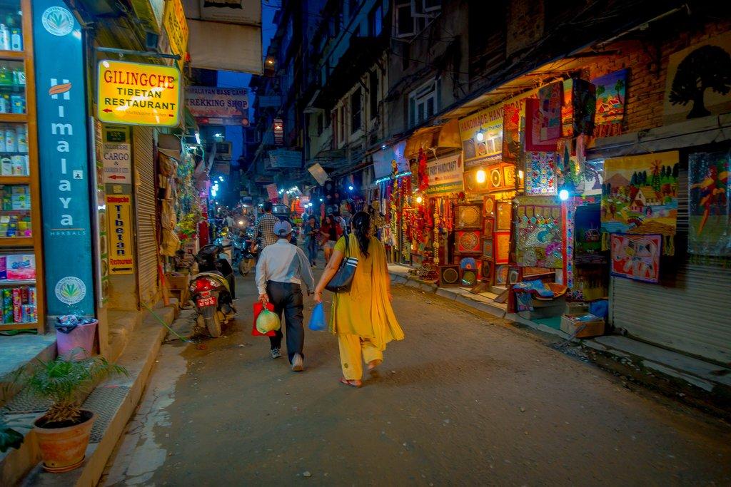 Shopping in Thamel, Kathmandu
