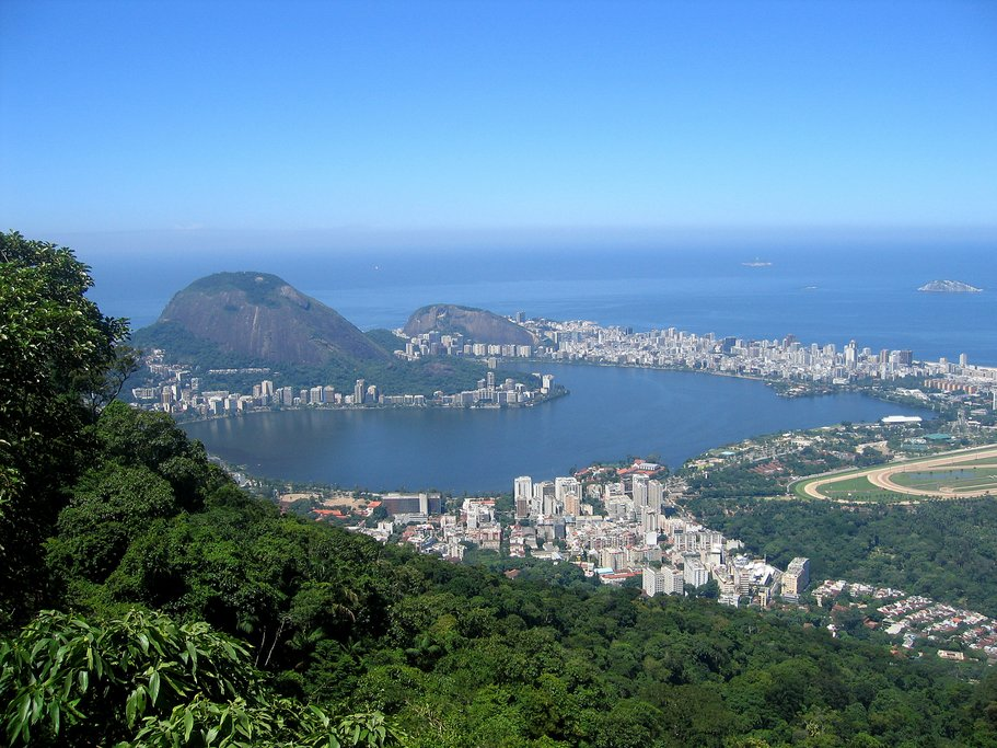 The view of Rio and Sugarloaf Mountain from Pico da Tijuca