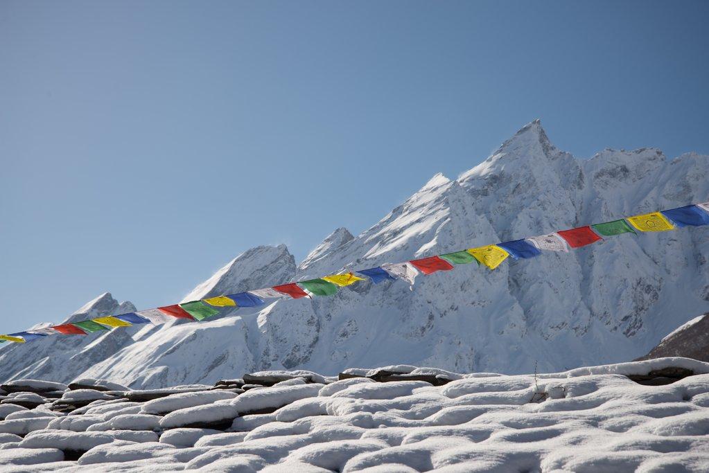 The view from the hike above Samdo, Manaslu