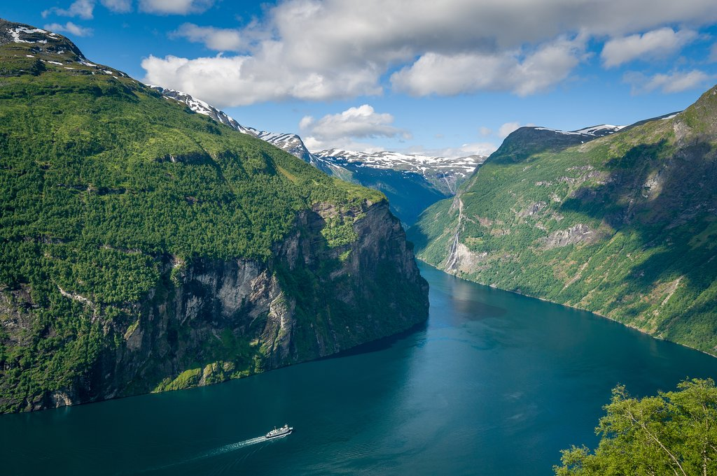Take the car ferry through a UNESCO-protected fjord.