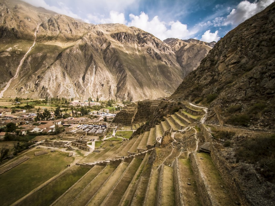 The terraced gardens of the Incan empire served several functions - to optimize limited growing space and to prevent landslides