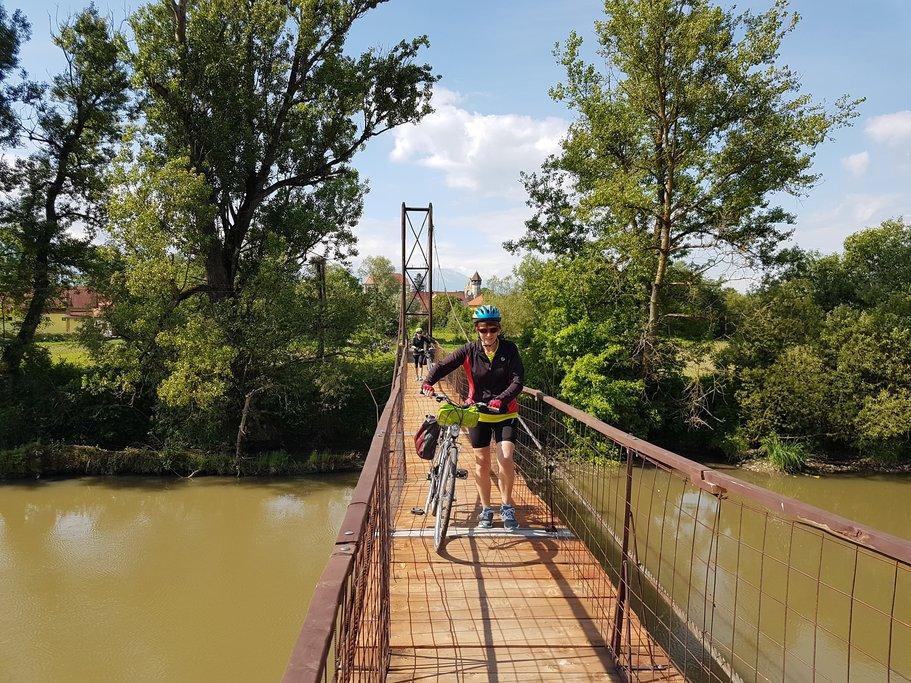 Bridge across the Olt River